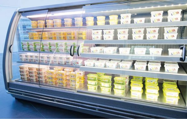 refrigerated cabinets glass covers roller blind systems PAN-DUR